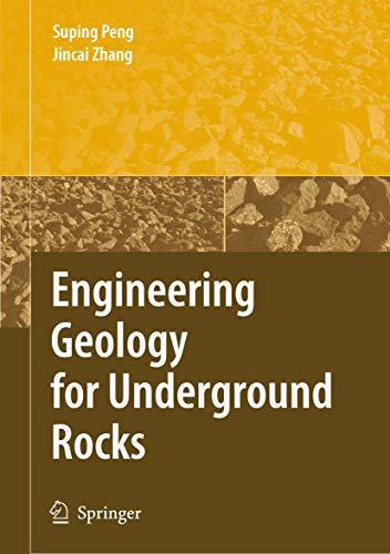 9783540732945: Engineering Geology for Underground Rocks