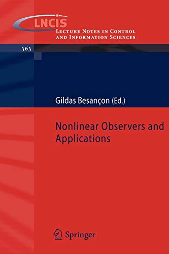 9783540735021: Nonlinear Observers and Applications (Lecture Notes in Control and Information Sciences)