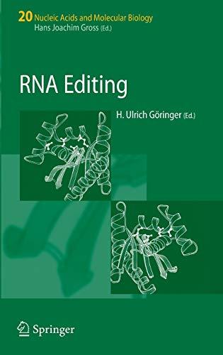 9783540737865: RNA Editing (Nucleic Acids and Molecular Biology)