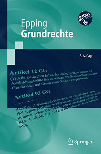 9783540738077: Grundrechte (Springer-Lehrbuch) (German Edition)