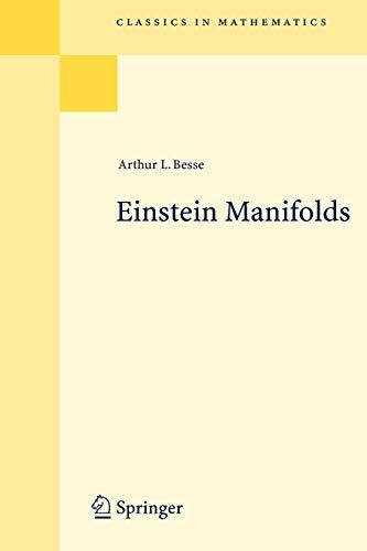 9783540741206: Einstein Manifolds (Classics in Mathematics)