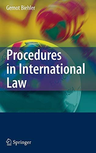 9783540744979: Procedures in International Law