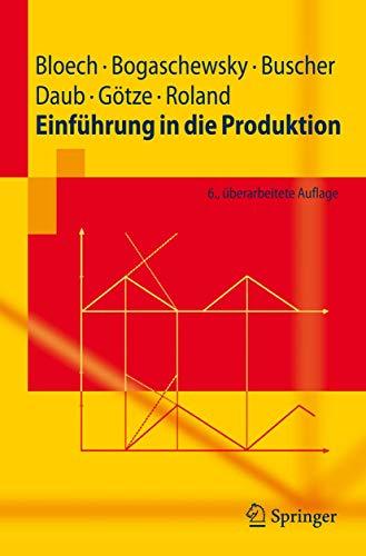 9783540752226: Einf�hrung in die Produktion (Springer-Lehrbuch)
