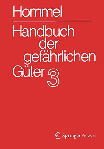 9783540756712: Handbuch der gefährlichen Güter. Band 3: Merkblätter 803-1205