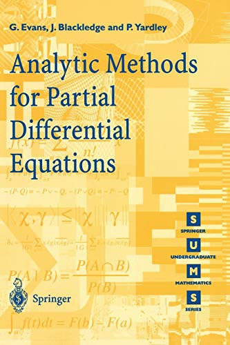9783540761242: Analytic Methods for Partial Differential Equations (Springer Undergraduate Mathematics Series)