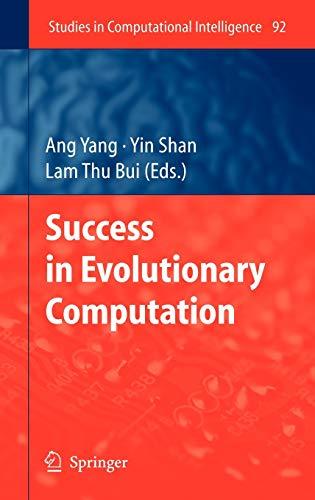 Success in Evolutionary Computation: Ang Yang