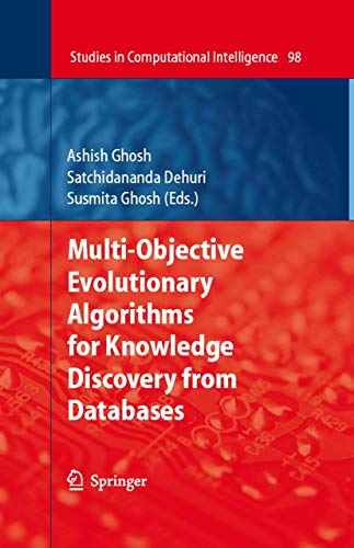 9783540774662: Multi-Objective Evolutionary Algorithms for Knowledge Discovery from Databases