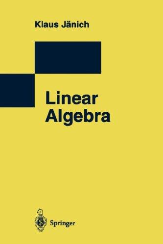 9783540780564: Linear Algebra