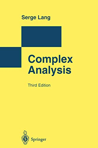 9783540780595: Complex Analysis (Monographs in Computer Science)