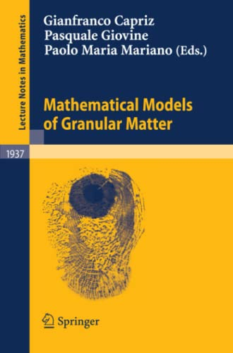 9783540782766: Mathematical Models of Granular Matter (Lecture Notes in Mathematics)
