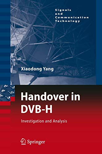 9783540786290: Handover in DVB-H: Investigations and Analysis (Signals and Communication Technology)