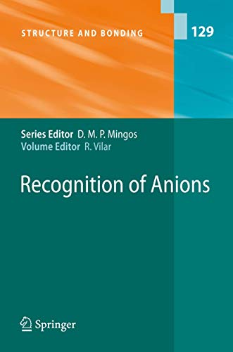 Recognition of Anions: Vilar, Ramon (Editor)/