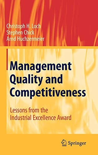 9783540791836: Management Quality and Competitiveness: Lessons from the Industrial Excellence Award