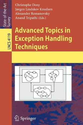 9783540827870: Advanced Topics in Exception Handling Techniques