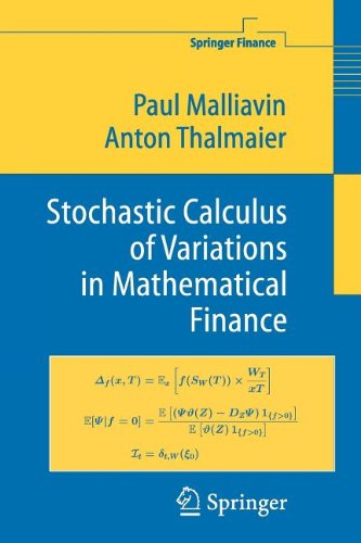 9783540829690: Stochastic Calculus of Variations in Mathematical Finance