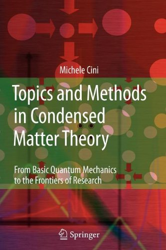 9783540835271: Topics and Methods in Condensed Matter Theory