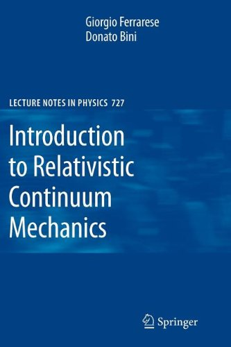 9783540839750: Introduction to Relativistic Continuum Mechanics