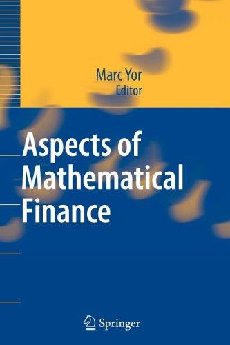 9783540844365: Aspects of Mathematical Finance