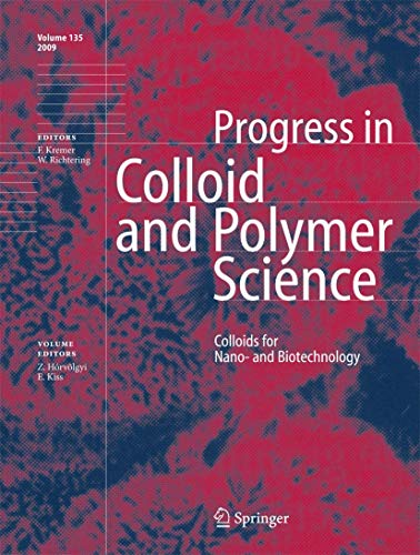9783540851332: Colloids for Nano- and Biotechnology (Progress in Colloid and Polymer Science)