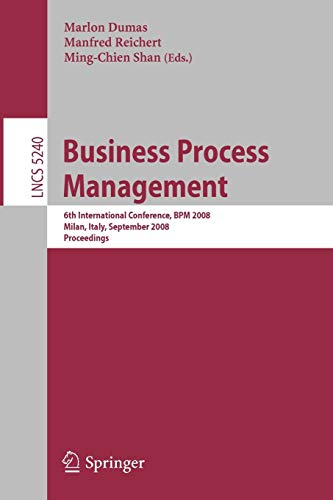 Business Process Management: 6th International Conference, BPM