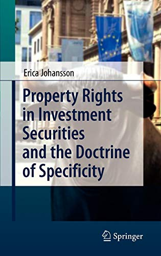 9783540859031: Property Rights in Investment Securities and the Doctrine of Specificity