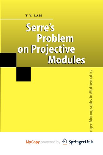 9783540860563: Serre's Problem on Projective Modules