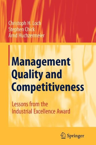 9783540871972: Management Quality and Competitiveness