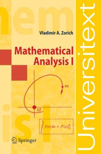 9783540874515: Mathematical Analysis I: v. 1 (Universitext)