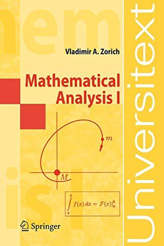 9783540874515: Mathematical Analysis I (Universitext)