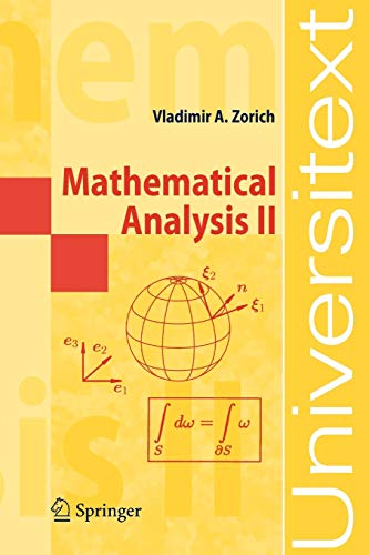 9783540874539: Mathematical Analysis II (Universitext)