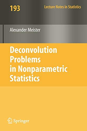 9783540875567: Deconvolution Problems in Nonparametric Statistics (Lecture Notes in Statistics)