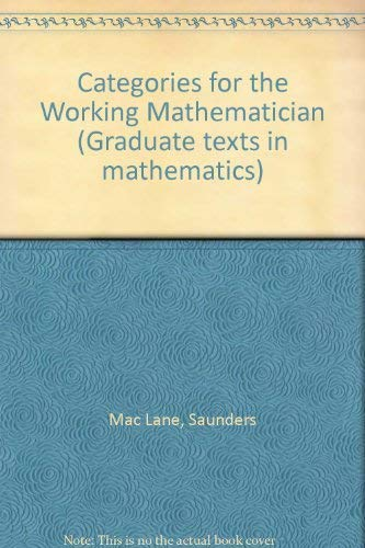 9783540900368: Categories for the Working Mathematician (Graduate texts in mathematics)
