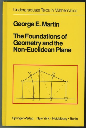 9783540906940: The Foundations of Geometry and the Non-Euclidean Plane (Undergraduate Texts in Mathematics)