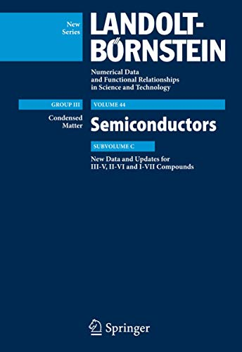 New Data and Updates for I-VII, III-V and II-VI Compounds (Hardcover)