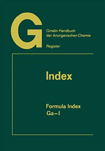 Ga - I (Gmelin Handbook of Inorganic: n/a