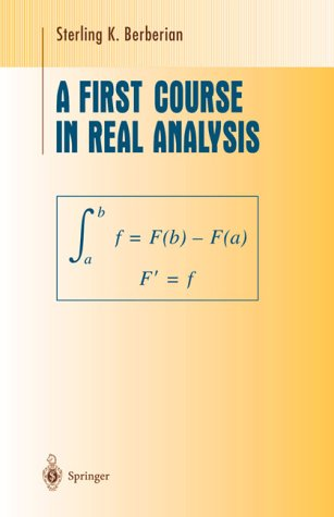 9783540942177: A First Course in Real Analysis (Undergraduate Texts in Mathematics)