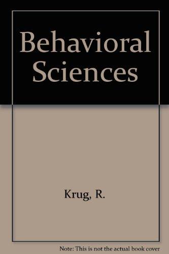 9783540963332: Behavioral Sciences