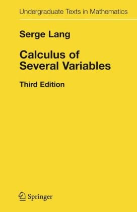 9783540964056: Calculus of Several Variables (Undergraduate Texts in Mathematics)