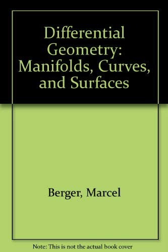 9783540966265: Differential Geometry: Manifolds, Curves, and Surfaces