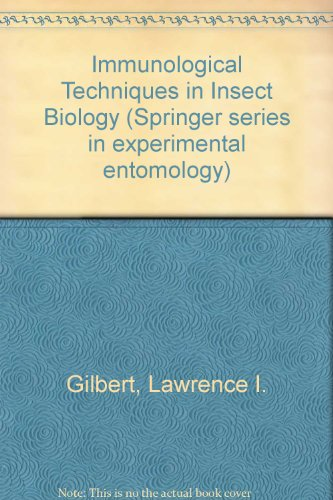 9783540966302: Immunological Techniques in Insect Biology (Springer series in experimental entomology)