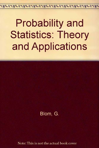 9783540968528: Probability and Statistics: Theory and Applications