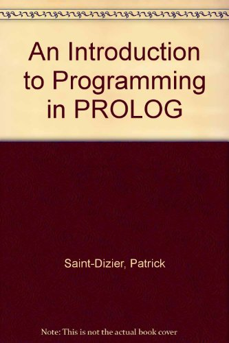 9783540971443: An Introduction to Programming in PROLOG
