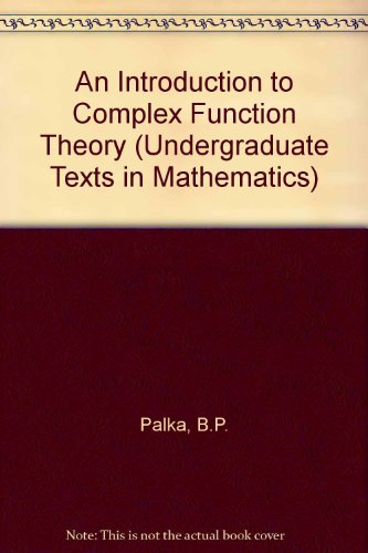 9783540974277: An Introduction to Complex Function Theory (Undergraduate Texts in Mathematics)