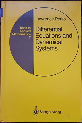 9783540974437: Differential Equations and Dynamical Systems (Texts in Applied Mathematics)