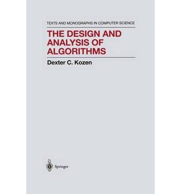 9783540976875: The Design &Analysis of Algorithms - 1992 publication