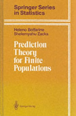 9783540977858: Prediction theory for finite populations (Springer Series in Statistics)