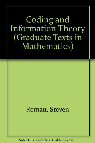 9783540978121: Coding and Information Theory (Springer Series in Statistics)