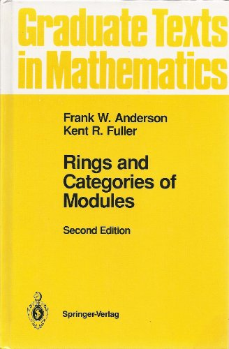 9783540978459: Rings and Categories of Modules (Graduate Texts in Mathematics)