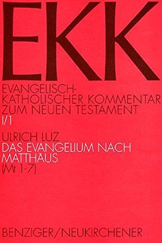 Evangelisch-Katholischer Kommentar zum Neuen Testament (EKK) Das Evangelium nach Matthäus. Tl...