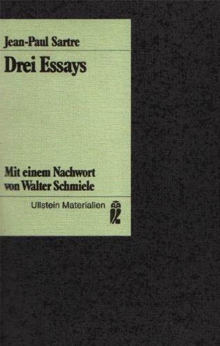 Drei Essays. Ist der Existentialismus ein Humanismus?/: Sartre, Jean-Paul: